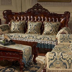 Image 2 - מפואר כרית ספה ריפוד אירופאי חתך ספת כיסוי ספה כיסוי ספה הדו מושבית ריפוד
