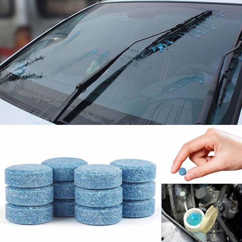 10/50pcs Car Solid Cleaner Effervescent Tablets Spray Cleaner Car Window Windshield Glass Cleaning Auto Accessories