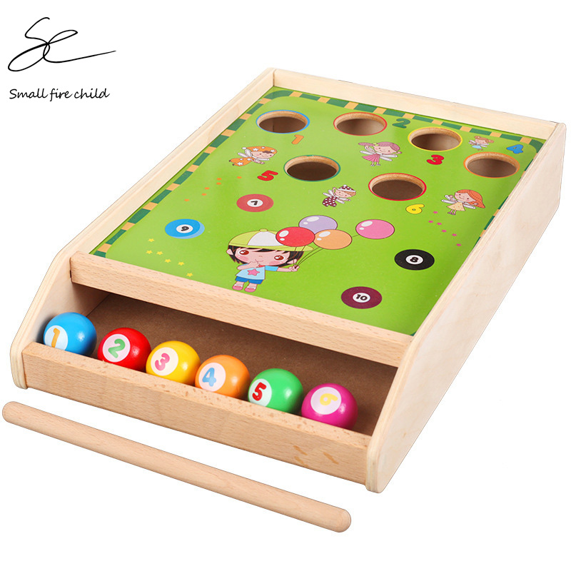 NEW Children's Wooden Fun Billiard Game Toys Billiard Wood Color Matching Cognition Parent-child Game Toys