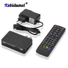 New HD 1080p Dvb T2 TV Box Dvb t2 Tv Tuner For Monitor Adapter USB 2.0 Tuner Satellite Receiver For Europe Russia Czech Spain