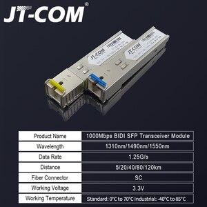 Image 2 - 送料無料!2個のSFPモジュールSCコネクタギガビットDDM BIDIミニgbic 1000MbpsシングルファイバーSC SFP光ファイバートランシーバーOtdr光トランシーバーモジュール5 120 km Mikrotik Cisco TP Linkスイッチとの互換性