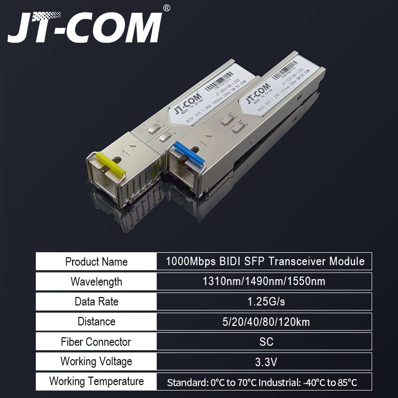 Image 2 - 2pcs SFP Module SC connector Gigabit DDM BIDI mini gbic 1000Mbps 