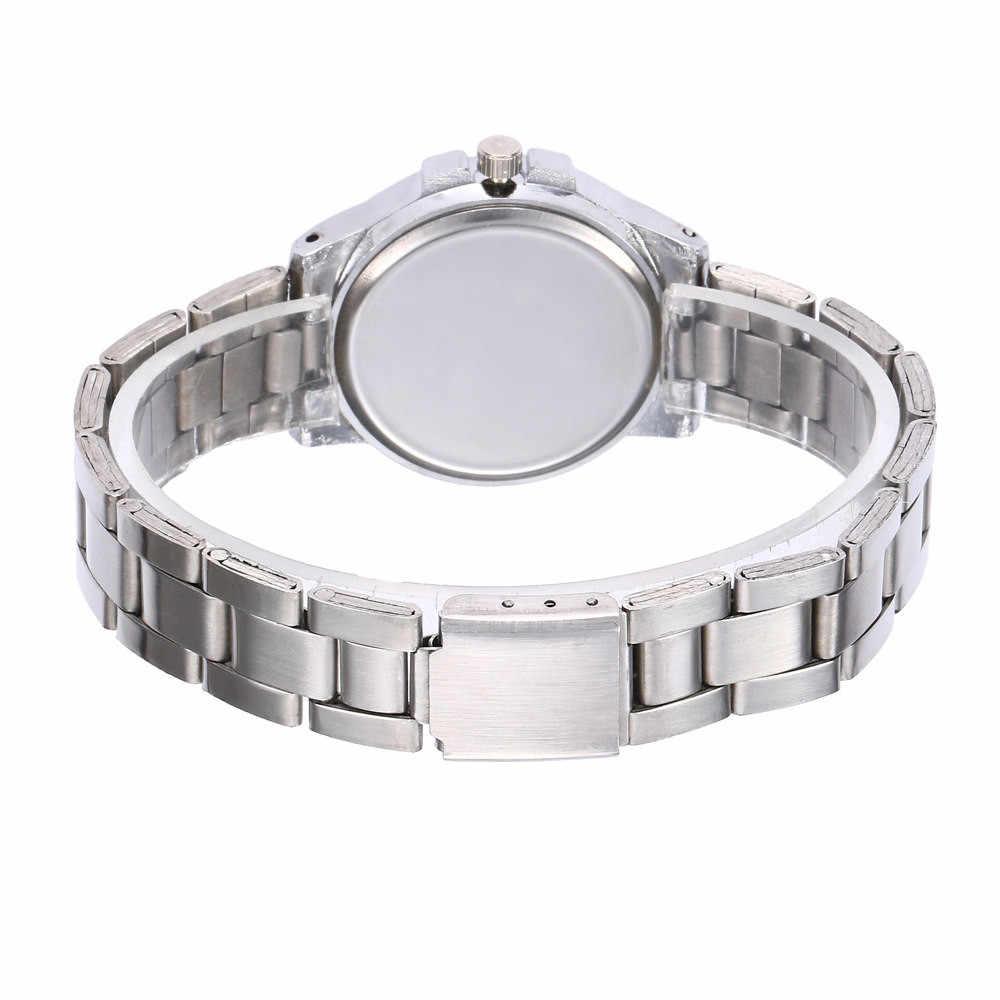 Reloj de lujo para mujer, Reloj Simple de acero inoxidable, reloj de pulsera de cuarzo Dorado a la moda para mujer, regalos de oro rosa para mujer 2020