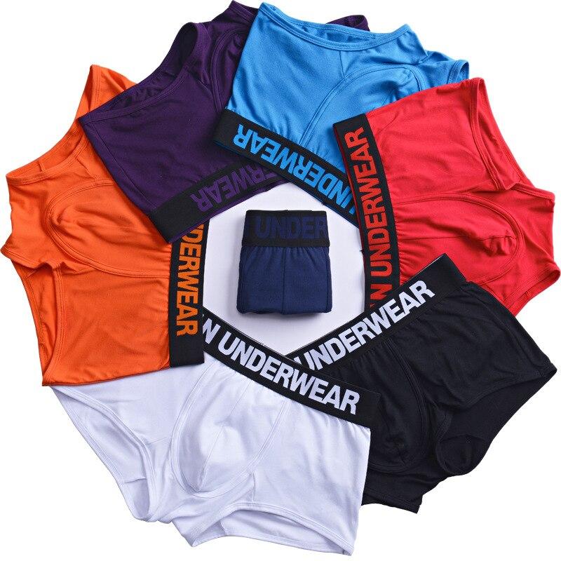 Hot Letters Man Underwear Boxershorts New Underpants 7 Colors Men Boxer Panties Shorts Underwear Boxer Comfortable Male Pants