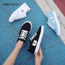 Sneakers shoes white shoes women's fashion canvas shoes low-cut round toe strap casual women's shoes