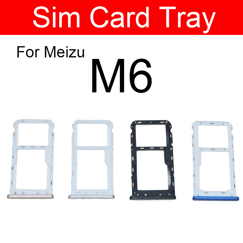 Sim Card Tray Holder Adapters For Meizu Meilan Blue Charm 6 M6 M711C Sim Reader Card Slot Socket Replacement Repair Parts