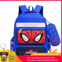 Disney Spiderman SchoolBag Boys Backpack Fashion School Bag Waterproof Kids Bags for Children