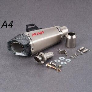 Moto 51mm Motorcycle exhaust pipe muffler Yoshimura sticker exhaust with DB killer for Z900 MT09 KTM390 CBR1000 R6 FZ8 R25(China)