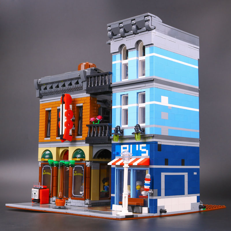 DHL 15011 City Street The 10246 Detective's Office Model Building Blocks Bricks Kits Architecture Toys For Christmas Gift Toys-in Blocks from Toys & Hobbies    1