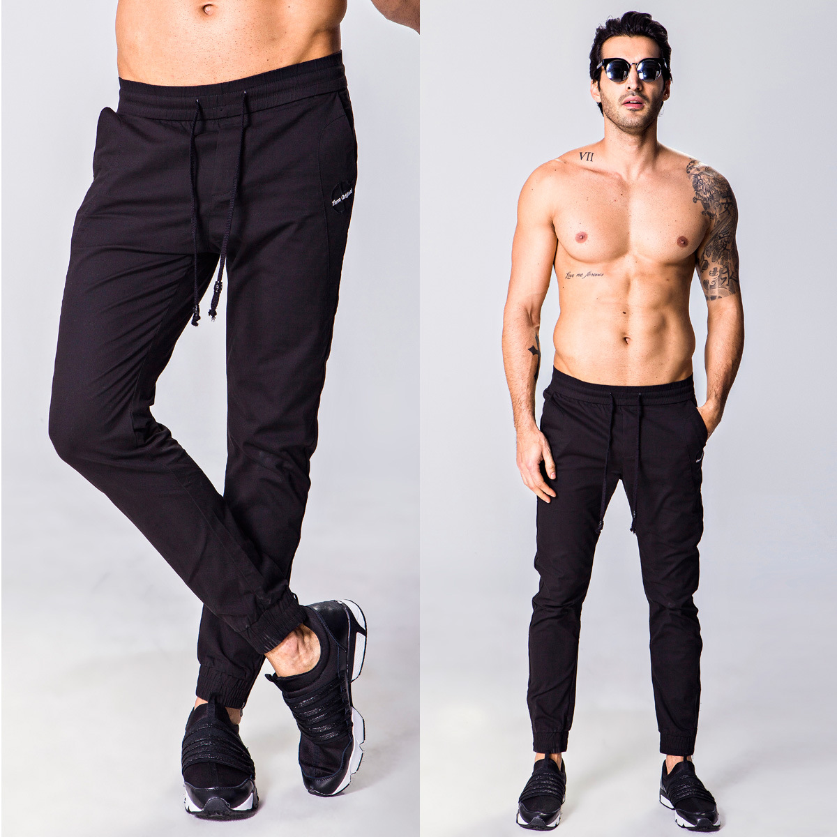 Western Style Men's Long Pants Fashion Zipper Trousers Closing Micro Elastic Men Skinny Jeans-