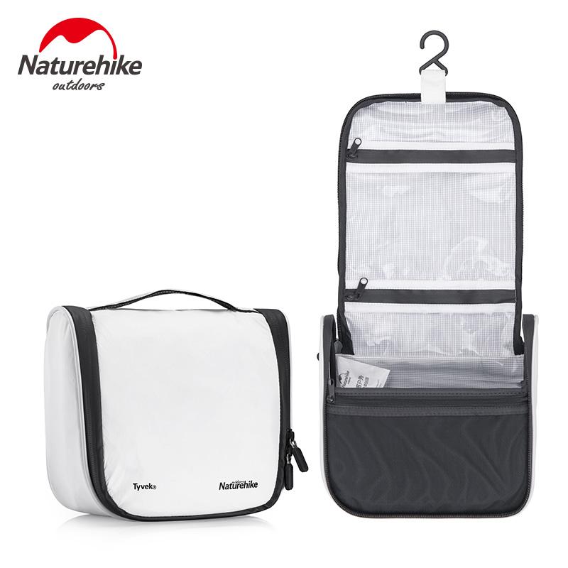 Naturehike Tyvek Wash Bag Outdoor Travel Sports Portable Waterproof Storage Bag Cosmetic Bag Large Capacity Multifunction Bag