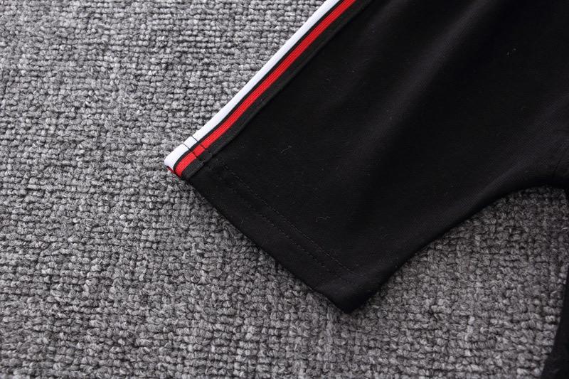 top + preto shorts infantil manga curta terno esportivo