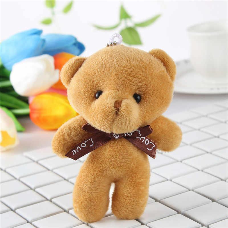 1 個ミニぬいぐるみ結ばクマのおもちゃペンダント PP コットンソフトぬいぐるみクマのおもちゃ人形ホリデーギフト女性のハンドバッグキーペンダント