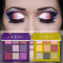 9 Colors Glitter Eyeshadow Palette Matte Eyes Makeup Pallete Eye Shadow Palette Shimmer Diamond Powder Pigment Cosmetics novo 18 colors nude eyeshadow palette shimmer matte pressed eye shadow powder makeup glitter palette lasting eyes cosmetics