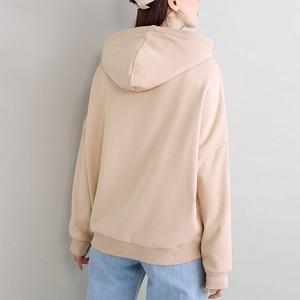 2019 New Plus velvet Basic Hoodies For Women Leisure Female winter Solid Colour Casual SweatshirtHip Pop Tops