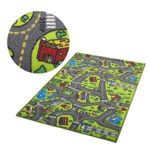 Image 3 - ילדי כביש תנועה משחק מחצלת שמיכת עיר ירוק כביש ילד לשחק מחצלת שטיח עבור תינוק זחילה שמיכת רצפת שטיח שטיח מחצלת