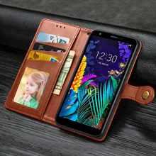 Mokoemi yuvarlak toka cüzdan deri LG kılıfı K61 K30 K20 2019 K50s K50 K40s K40 K12 artı telefon kılıfı kapak