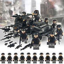 Special Forces Building Blocks Military Special Forces Soldiers Bricks Figures Guns Weapons Armed SWAT Compatible Legoings Block