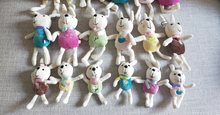 10pcs/Lot 10cm Lovely Rabbits Plush Toy Stuffed Keychain For Bag Animal Doll(China)