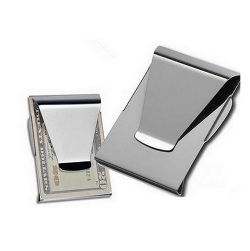 New Slim Double Sided Money Clip Quality Wallet Stainless Steel Wallet Metal Credit Card Money Holder Carteira Masculina