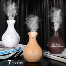 USB Electric Air Humidifier Mini Wood Grain Aroma Diffuser Essential Oil Aromatherapy Cool Mist Maker With LED Use For Home