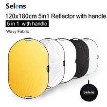Selens 120 × 180 センチメートル 5 1 リフレクター写真でポータブル光反射とキャリングバッグ写真フォトスタジオアクセサリー