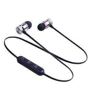 Image 2 - מגנטי Bluetooth אוזניות ספורט ריצה אלחוטי Neckband אוזניות אוזניות עם מיקרופון סטריאו מוסיקה עבור טלפונים חכמים