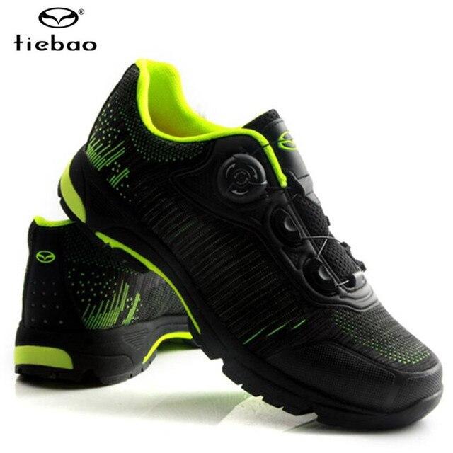 Tiebao ciclismo sapatos auto-lock mtb respirável malha superior sapatos de bicicleta ao ar livre sapatos de lazer dos homens tênis zapatillas mtb 3