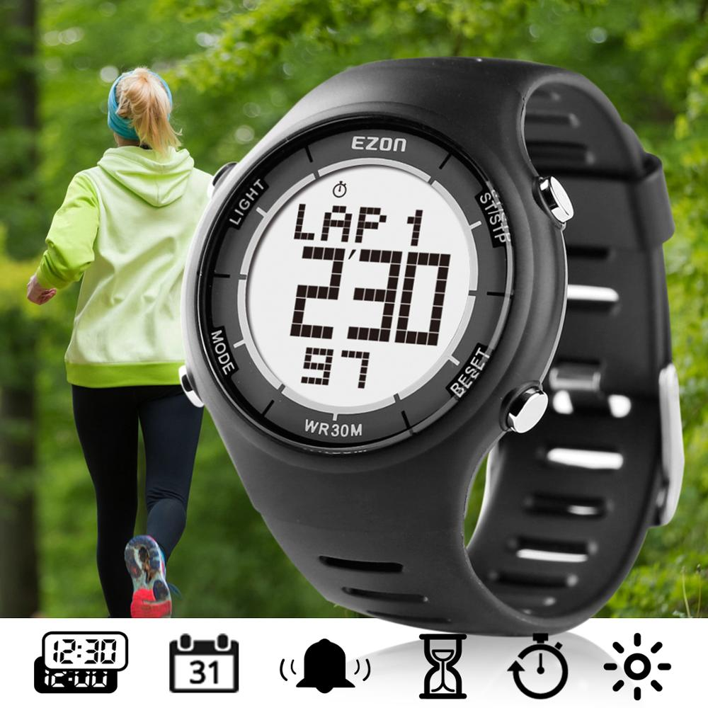 Digital Sport Watch Men Women Multifunction Outdoor Watches Alarm Clock Chrono 30M Waterproof Running Watch EZON