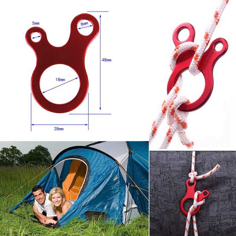 Hook Tent line rope Wind Stopper String Line Cord With Buckle Tent Wind Rope New