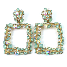 Pendientes Limited Geometric Earrings Exaggerated Women New Retro-coloured Crystal Block Womens Bohemian Female Earring 2019