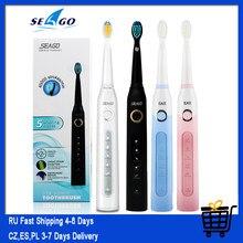 Seago – brosse à dents électrique sonique avec minuterie pour adulte, brosse à dents électrique Rechargeable par USB avec 3 têtes de brosse de rechange, SG-507