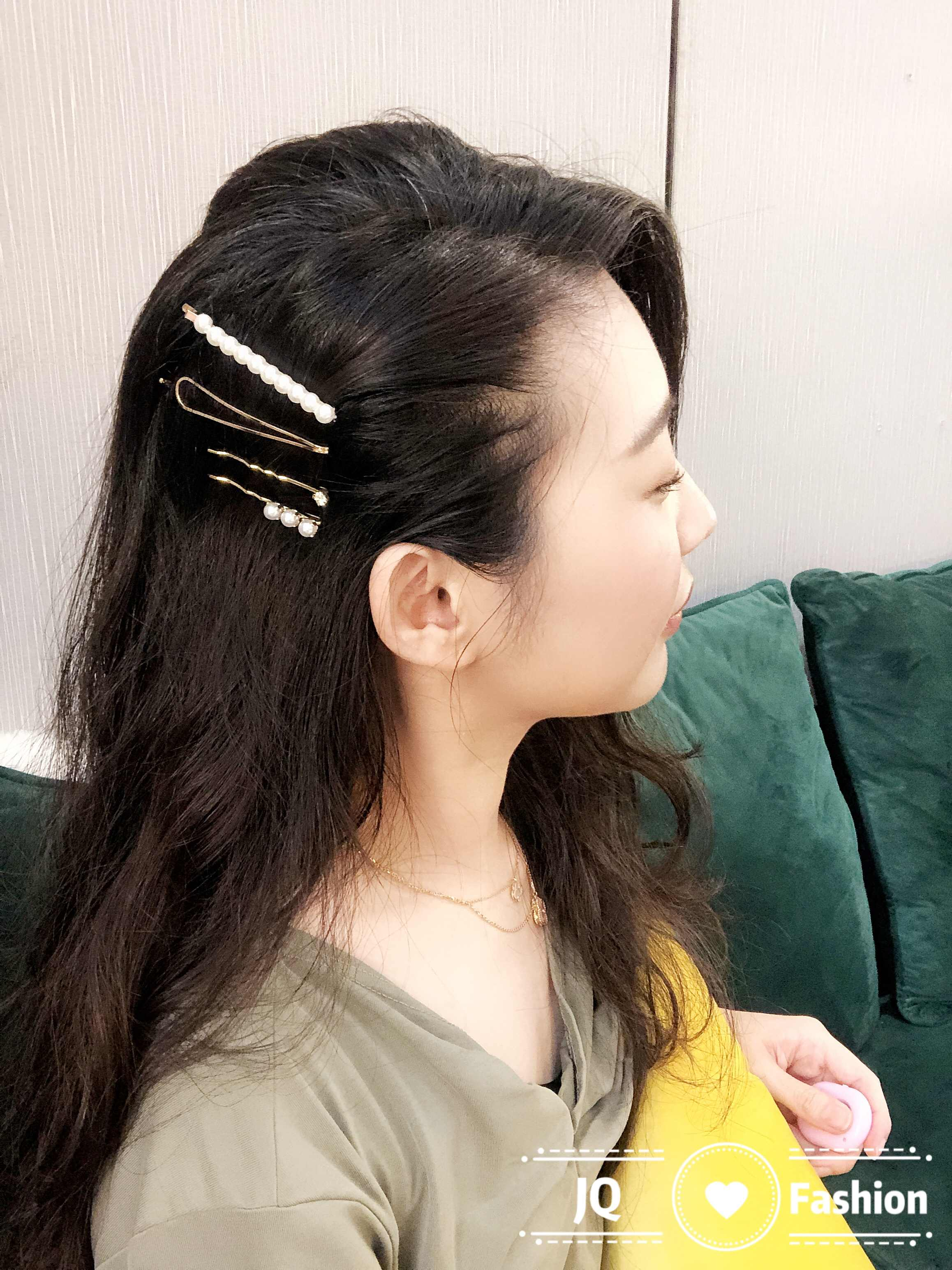 Pin Rambut Klip Rambut Aksesoris Putri Gaya Vintage Pearl Jepit Aksesoris Cheveux Instagram