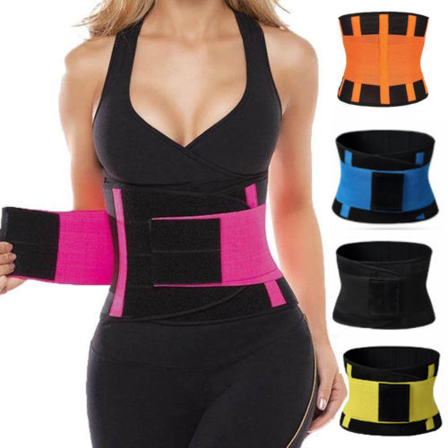 2019 Men Women Shapewear Sweat Belt Waist Cincher Trainer Trimmer Gym Body Shaper Unisex Sports Belt Waistband 1
