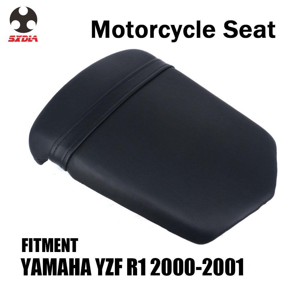 Motorcycle Street Bike Rear Passenger Cushion Leather <font><b>Seat</b></font> Cover <font><b>For</b></font> <font><b>YAMAHA</b></font> YZFR1 YZF <font><b>R1</b></font> YZF-<font><b>R1</b></font> <font><b>2000</b></font> 2001 image