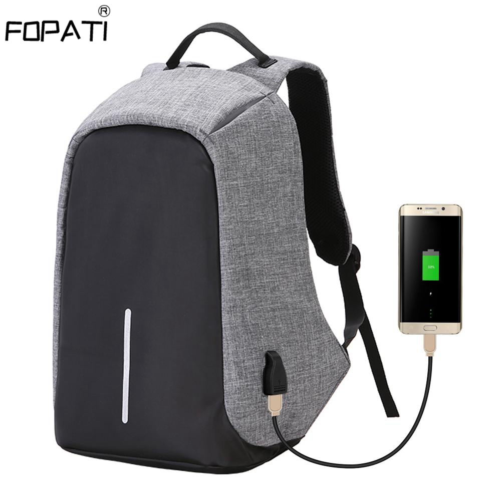 Fashion Anti-theft Backpack Men 17,15.6 Inch Laptop Backpack With USB Charging Backpack Women School Bag Waterproof Travel Bag