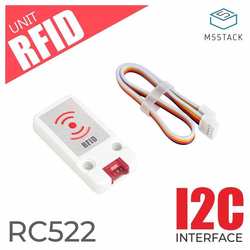 M5stack mini módulo de sensor rfid, mais novo mini unidade rc522 para arduino spi, leitor e gravador de cartão ic com interface i2c para esp32