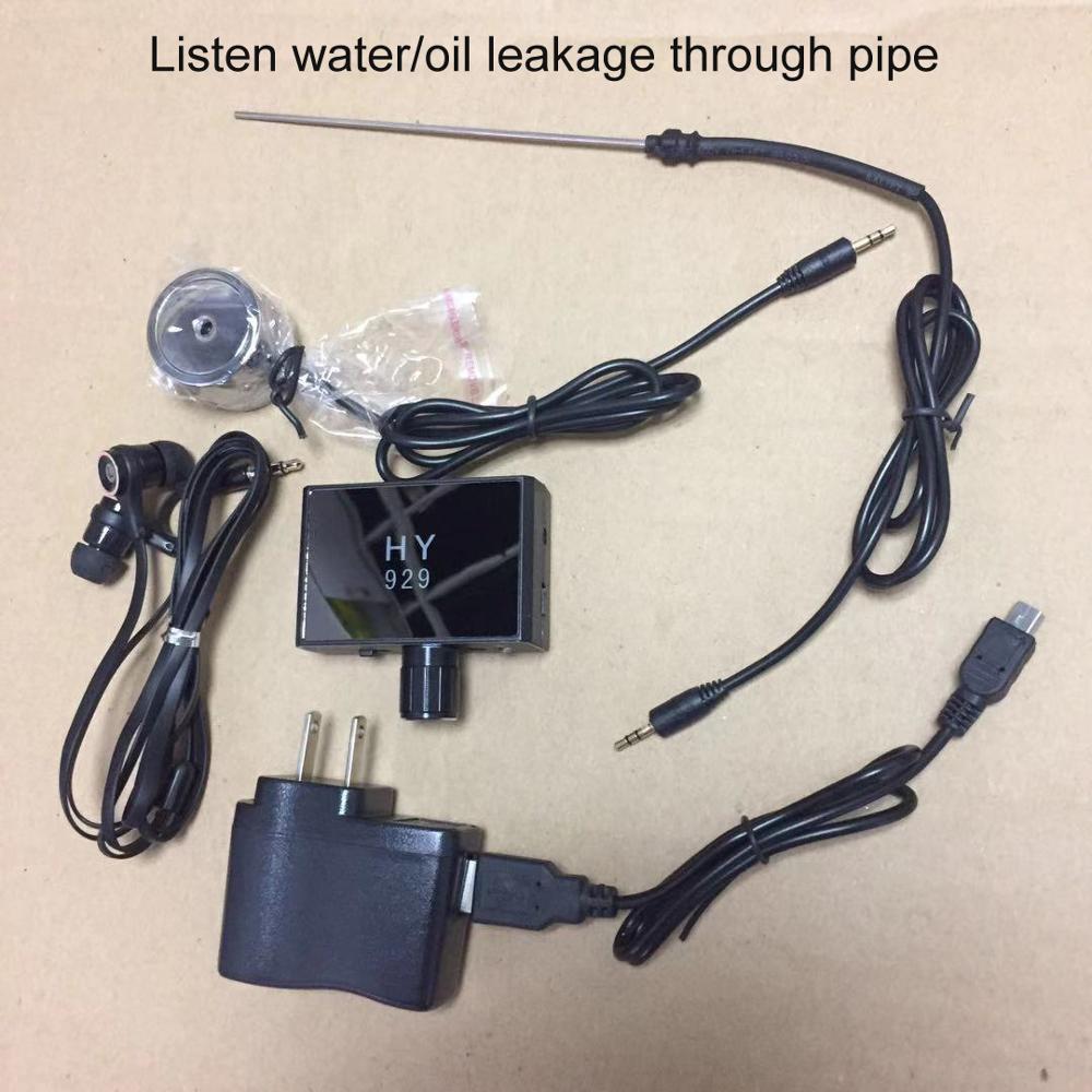 Hy929 tubulação autônoma vazamento de óleo detector de vazamento de água ouvir para o engenheiro super senstivity sistema através da parede
