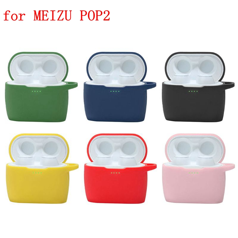 New Silicone Cover For Meizu POP 2 Anti-scratch Protective Case For MEIZU POP2 Bluetooth Wireless Earphone Charging Box