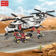 648Pcs Military War City Double Paddle Helicopter Thunder Mission Army LegoINGLs Building Blocks Toys For Boys Christmas Gifts