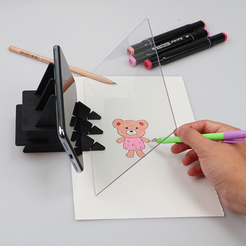 Drawing Board Sketch Reflection Dimming Bracket Painting Mirror Plate Tracing Copy Table Projection  Board Plotter  13.5cm*20cm 1