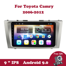цена на Android 9.0 Car Radio Multimedia Player for Toyota Camry 2006 2007 2008 2009 2010 2011 2012 GPS Navigation Stereo Video DVD Wifi