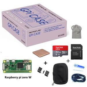 Gpi-Case-Kit Heatsink Retroflag Raspberry Pi Zero/zero-W with 32G Micro-Sd-Card Carrying-Bag