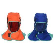 Breathable Welding Headgear Washable Protection Hood Flame Retardant Helmet Practical Welder Cap Cover For Welder