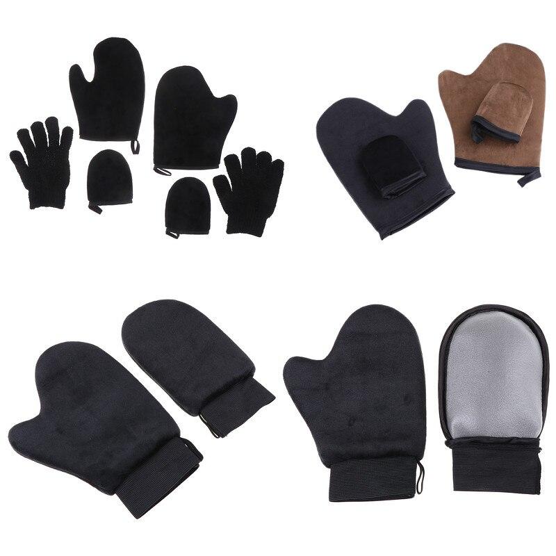 1/2/3 шт./компл. перчатки для чистки тела автозагар многоразовые аппликаторы для тела загар перчатки для загара крем лосьон мусс
