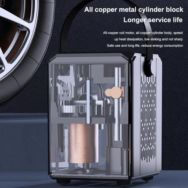 Compresseur dair de voiture 6000mAh batterie pneu gonfleur portable électrique voiture pompe à Air numérique Auto pneu pompe pour voiture moto balle