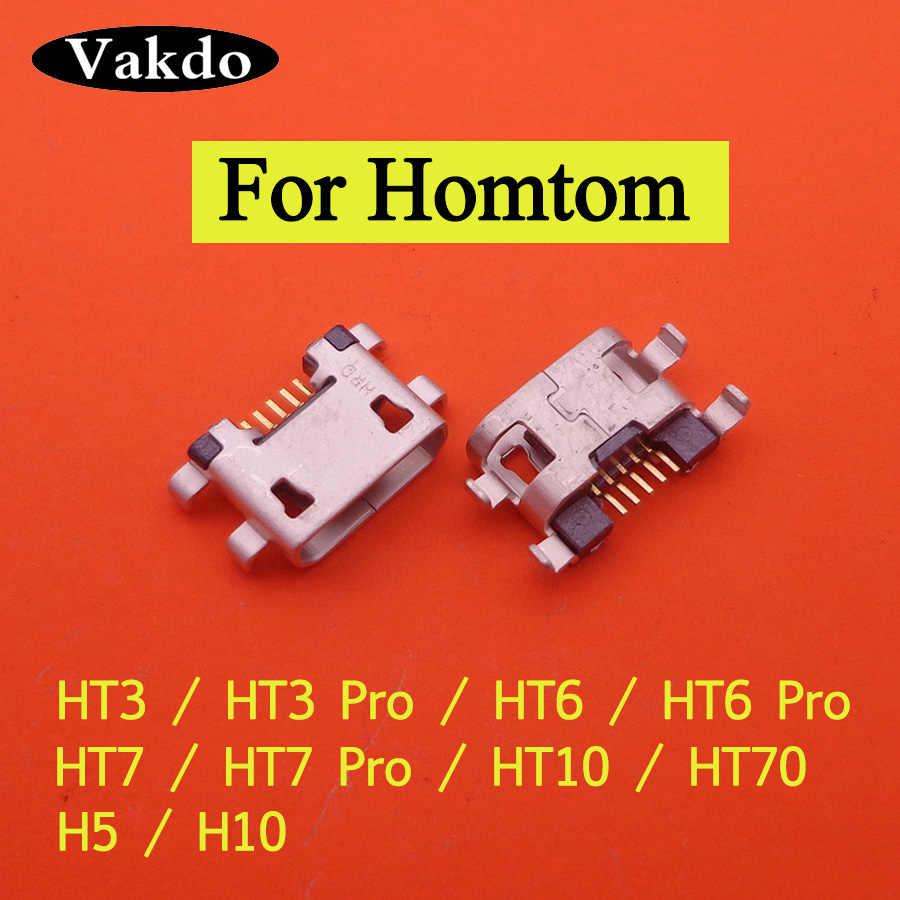 2 قطعة ل HOMTOM HT3 HT7 برو MTK6580 البسيطة المصغّر usb chargering ميناء المقبس موصل الطاقة استبدال اللوحة الرئيسية جاك حوض
