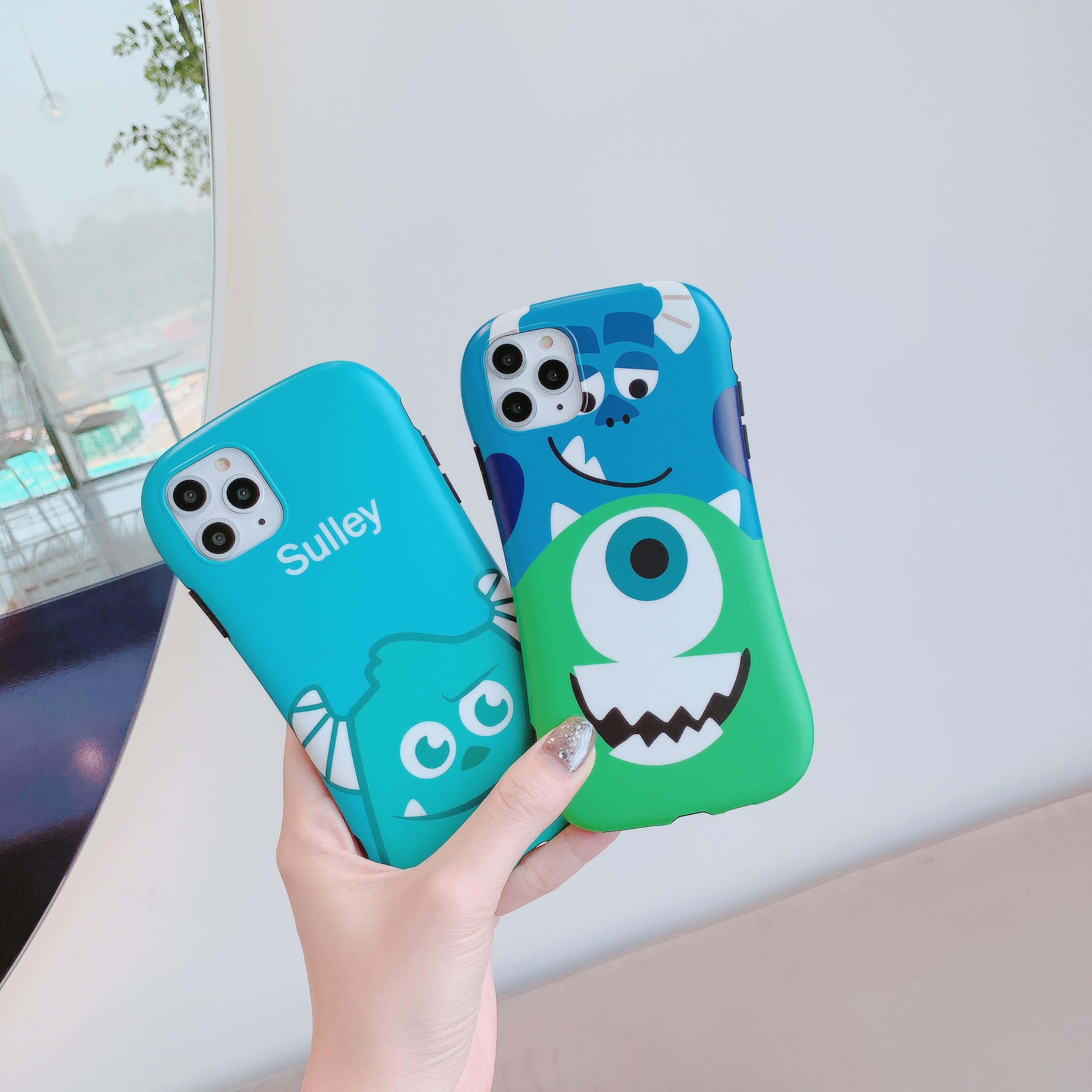 For iphone 11 Pro Max cute cartoon sulley Mr.Q fashion soft Mobile Phone Case for iphone 6 6s 7 7plus 8 8plus X XR XS MAX cover