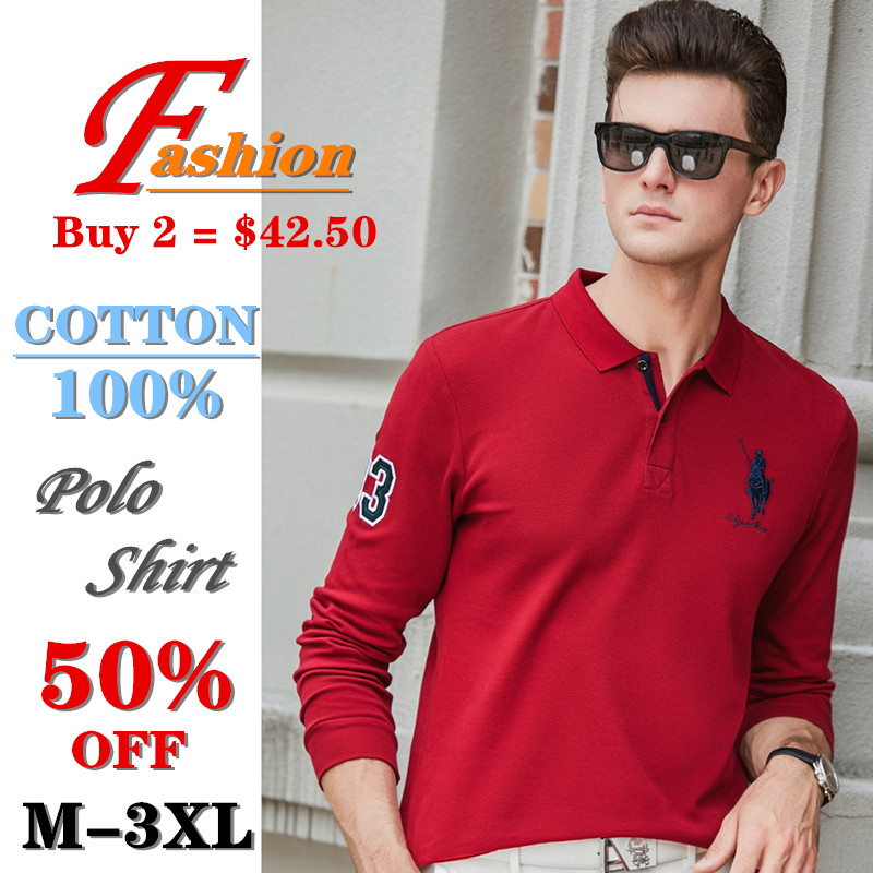 High-end Men's Polo Shirt Soft Breathable Comfortable Colorfast Anti-Pilling Keep-warm Cotton Business Casual Plus-size Noble