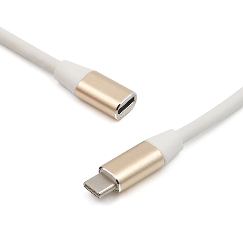 1m PVC Male To Female Cord Type C USB 3.1 Male To Female Extension Data Cable Wire Extending Connector